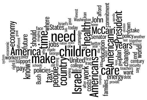 Obama Wordle Mashup - June Speeches