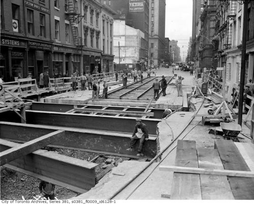 Building the Subway and Streetcar system - Downtown Toronto